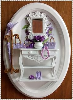Cenário Feminino Oval - Lady Lilac