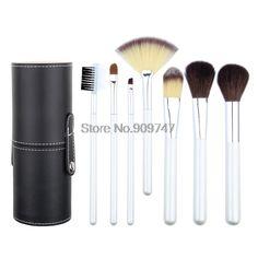 New Arrival 7 Pcs Powder Blush Foundation Make Up Tools Tube Kit 5 Colors Makeup Brush Set