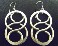 Double Figure Eight Handmade LAGENLOOK Recycled Aluminum Earrings #Handmade #DropDangle
