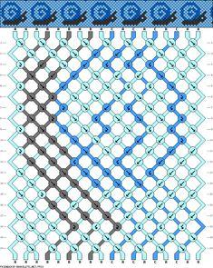 18 strings, 20 rows, 3 colors, snail bracelet