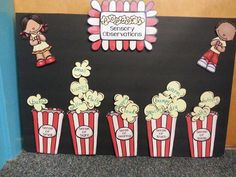 Adorable FREE popcorn investigation- Cute activity for teaching the 5 Senses!