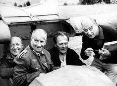 PHOTO LA GRANDE VADROUILLE - BOURVIL, LOUIS DE FUNÈS, GÉRARD OURY, TERRY-THOMAS | eBay