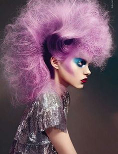 Purple hair. Fashion. #CapitolCoutureCollection