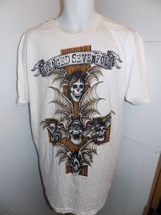 Avenged Sevenfold God Hates Us Tour T Shirt Size XL White  #AvengedSevenfold #GraphicTee