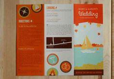 cute park inspired invitation brochure