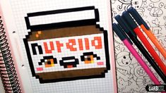 Handmade Pixel Art - How To Draw a Kawaii Nutella by Garbi KW