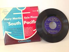 1940 Mary Martin Volume 1 South Pacific 45RMP Extended Play 45 Vinyl Record…