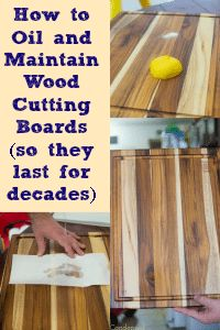 How to Oil and Treat Wood Cutting Boards via @clarkscondensed