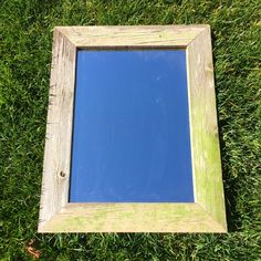 """Barn Door Creations now offers a rustic garden mirror. Made of reclaimed wood. Offered in natural (PICTURE SHOWN), medium pecan, and dark walnut finishes. Size is 23""""x29"""". $60.00 This is a LIMITED EDITION only 25 will be built. www.facebook.com/barndoorcreations"""