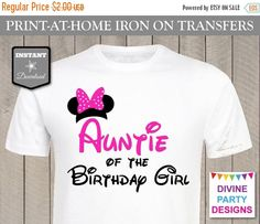 SALE INSTANT DOWNLOAD Print at Home Hot Pink Mouse Auntie of