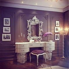 Makeup Organization | Dressing Table | Decoration | Vanity Table | Romm | Bedroom | Home | Design | Penteadeira | Quarto
