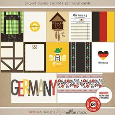 Project Mouse (World): Germany  journal Cards by Britt-ish Design and Sahlin Studio - Perfect for your Project Life or Project Mouse Disney Epcot Album
