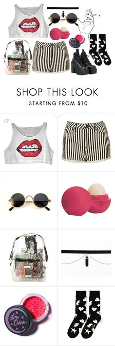 """""""#6"""" by midnightcrew on Polyvore featuring Topshop, Eos, *Accessories Boutique, Lime Crime, Happy Socks and UNIF"""