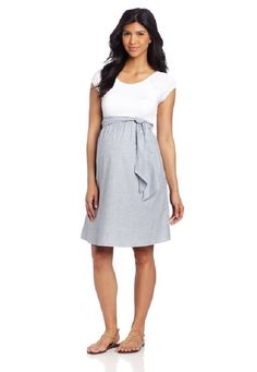 66e4d93f45897 Maternal America Women's Maternity Front Tie Dress Summer Maternity Clothes,  Spring Maternity Fashion, Maternity