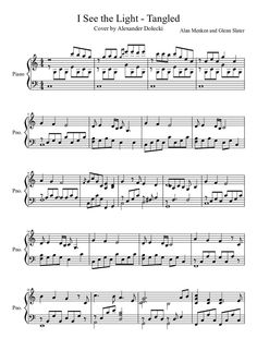 I See the Light(Tangled) - Piano Solo free sheet music. omg i sang this in choir at my old school (: Violin Sheet Music, Piano Music, Music Sheets, Piano Lessons, Music Lessons, Piano Songs, I Saw The Light, Free Sheet Music, Music Score