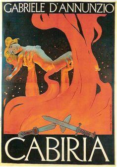 By Leopoldo Metlicovitz (1868-1944) It., Cabiria by Gabrielle D'Annunzio.(theater)