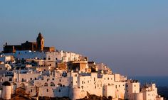 The white town of Ostuni in Italy