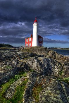 Fisgard Lighthouse. The first lighthouse on Canada's west coast is still in operation. Victoria, BC   by Brandon Godfrey, via Flickr