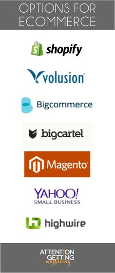 Top Ecommerce platforms and sites for starting an online business http://attention-getting.com