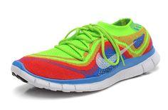 Where To Buy Nike Free Flyknit+, Mens Original Nike Free Flyknit+ 5 Rainbow Green Crimson Blue Glow White Free Running Shoes, Nike Running, Runners Shoes, Nike Free Flyknit, Workout Shoes, Cheap Shoes, Nike Men, Fashion Shoes, Shoes Sneakers