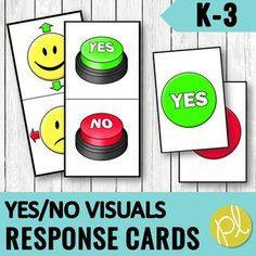 "This is a huge set of student response cards! Use these hands-on ""pinch cards"" to support students answering Yes and No in the whole group, small group, and individual setting. Students are provided with a card to""pinch"" their response in a small or whole group setting. You will be able to easily se..."