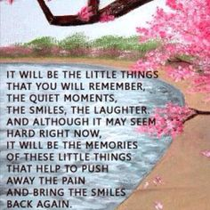 It will be the little things...