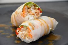 low fodmap rice paper rolls with peanut hoi sin sauce recipe (low fodmap, wheat and gluten free, lactose free, fructose friendly, no garlic, no onion)