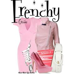 Look at this Frenchy inspired costume! Perfect for a Grease themed Halloween! Disney Themed Outfits, Disney Bound Outfits, Inspired Outfits, Movie Outfits, Nice Outfits, Broadway Outfit, Broadway Costumes, Broadway Theme, Frenchy Grease