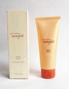 "Rosalie & Violetta: Etude House ""Moistfull Collagen Peeling Wash""  #etudehouse #Beauty #Makeup #cosmetic #skincare #Peeling"