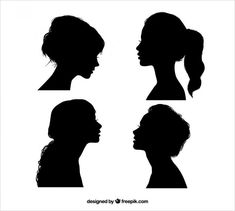Here is a list of free high-quality silhouette sets of a wide range of subjects including animal and human figures. Man And Woman Silhouette, Silhouette Face, Silhouette Painting, Silhouette Clip Art, Black Silhouette, Silhouette Drawings, Female Side Profile, Girl Side Profile, Face Profile
