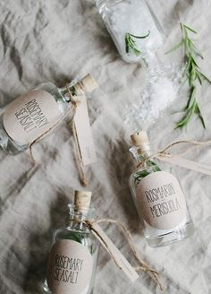Love is the secret ingredient! Dry ingredients make for a thoughtful and useful gift. Summer Wedding Favor Ideas