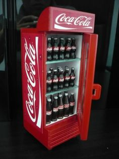 1000 images about coca cola doll house minatures on for 1 door retro coke cooler