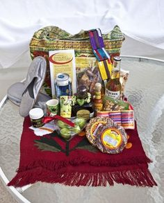 Perfect for a Destination Wedding: Mexico Welcome Bag Design. I can buy everything when I get there! Honeymoon Gift Baskets, Wedding Gift Bags, Wedding Welcome Gifts, Indian Wedding Favors, Wedding Stuff, Destination Weddings, Destination Wedding Welcome Bag, Ultimate Wedding Gifts, Unique Wedding Gifts