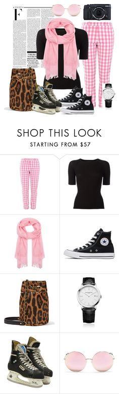 """""""Hanging Out"""" by silvia-viotti ❤ liked on Polyvore featuring Nicki Minaj, Love Moschino, Alexander Wang, Johnstons of Elgin, Converse, Jérôme Dreyfuss, Baume & Mercier, Fujifilm and Matthew Williamson"""