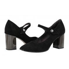 Дамски обувки на ток Tamaris катарама черни