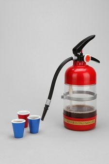 Thirst Extinguisher Drink Jug...I think this would be fun to bust out at a party:)