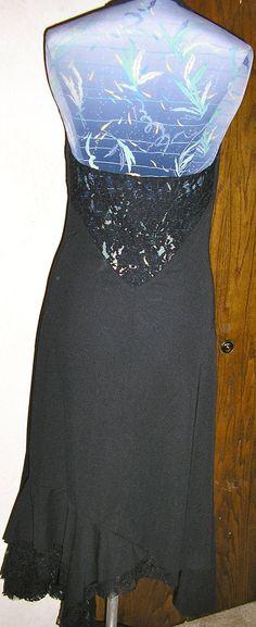 80s halter black open back lace dress Moda by ChloeandNatalieVtg, $24.99