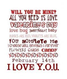8x10 Valentine's subway printable