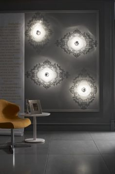 Richard Fard and Blandine Dubos Josephine Lamp - Wall/ceiling light in clear plexiglass (acrylic glass), supplied with 1 x silvered bulb. Ligne Roset, Wall Sconce Lighting, Wall Sconces, Ceiling Lamp, Ceiling Lights, Pinterest Instagram, Plexiglass, Modern Wall Lights, Clear Acrylic