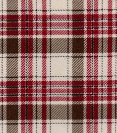 Snuggle Flannel Fabric-Gray Cranberry Plaid