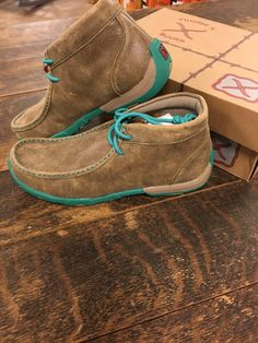 Twisted X Women�s Turquoise Bomber Driving Moc