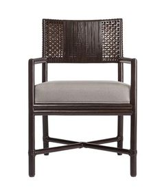 Buy Alameda Dining Arm Chair by McGuire Furniture - Quick Ship designer Furniture from Dering Hall's collection of Contemporary Dining Chairs. Outdoor Furniture Chairs, Rattan Dining Chairs, Dining Arm Chair, Dining Room, Bar Chairs, Wicker Furniture, Kitchen Chairs, Dining Tables, Asian Furniture