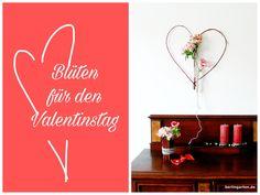 Valentinstag: Blumenherz XXL – berlingarten Be My Valentine, Home Decor, Valentines Date Ideas, Heart, Flowers, Gifts, Decorations, Room Decor, Home Interior Design