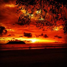 Manuel Antonio Beach  ahhhh- one of the world's best sunsets ;)