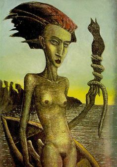The Akron Tarot is a German set with 80 cards and a large 395 companion book. The surreal Tarot scenes depart from standard imagery and emphasise the female energies. Tarot Spreads, Tarot Decks, Tarot Cards, Surrealism, Astrology, Knight, Erotic, The Past, Statue