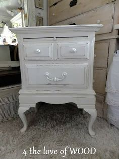 shabby chic nightstands 4 the love of wood: ENJOYING PINTEREST - oak bedside drawers