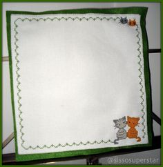 [My cross stitch works] - DIY Cross stitch earrings holder theme cats! - so cute! :) - porta orecchini punto croce