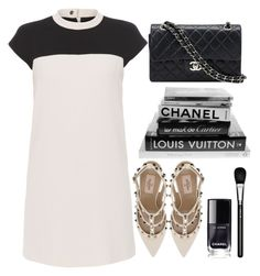 """◇TIMELESS CHIC◇"" by tamsy13 ❤ liked on Polyvore featuring Paule Ka, Valentino, MAC Cosmetics, Chanel, chic, white, black, blackandwhite and timeless"
