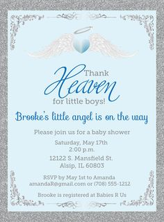 Thank Heaven for Little Boys Baby Shower by AnnounceItFavors