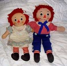 raggedy ann and andy love to eat their sugar candy, one for ann and one for andy, makes two pieces of sugar candy.